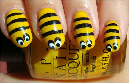 Honeybee Nail Art &amp; Tutorial