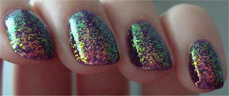 KleanColor Chunky Holo Collection Swatches Chunky Holo Purple Review