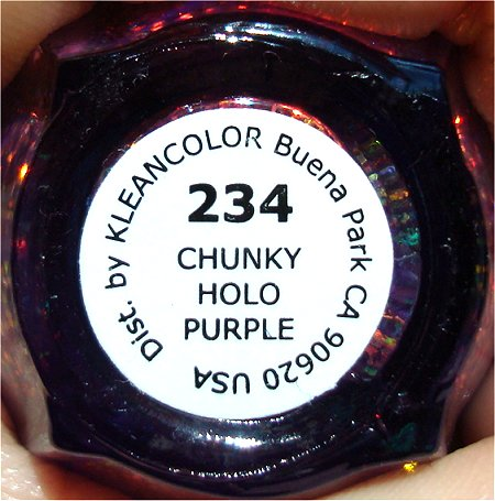 KleanColor Chunky Holo Purple 234 Bottle Pictures & Swatches