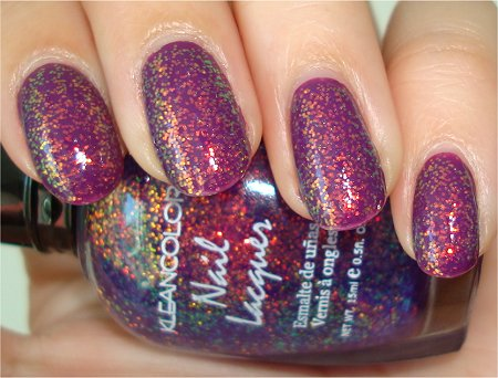 KleanColor Purple Swatches & Review Chunky Holo Purple