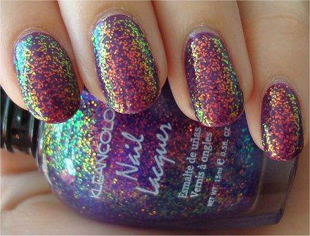 KleanColor Swatches Chunky Holo Purple Swatch & Review