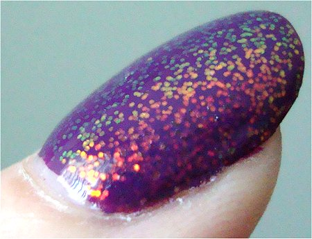 KleanKolor 234 Chunky Holo Purple Swatches & Review