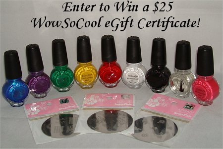 Enter to Win a $25 WowSoCool eGift Certficiate on Swatch And Learn