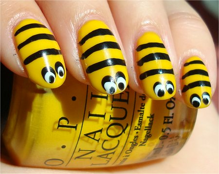 Nail Art Tutorial Bee Nails