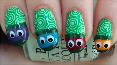 Nail Art Tutorial Teenage Mutant Ninja Turtle Nails