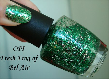 Natural Light Fresh Frog of Bel Air OPI Swatch The Muppets Collection