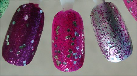 Natural Light OPI Divine Swine Layered Over Other Colours