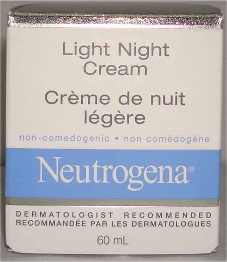 Neutrogena Light Night Cream Packaging Review & Pictures