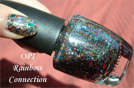 OPI The Muppets Holiday Collection OPI Rainbow Connection Review & Swatches