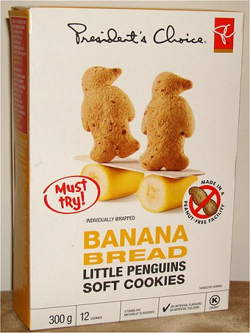 President's Choice Banana Bread Little Penguins Soft Cookies