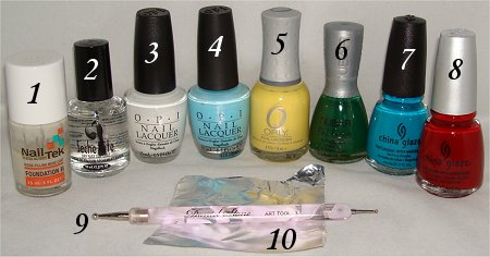 Rainbow Cloud Nail Art Supplies