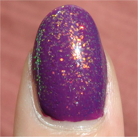 Sunlight KleanColor 234 Chunky Holo Purple Polish Review & Swatch
