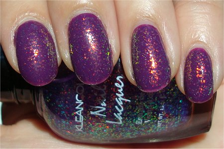 Sunlight KleanColor Chunky Holo Purple Swatch & Review