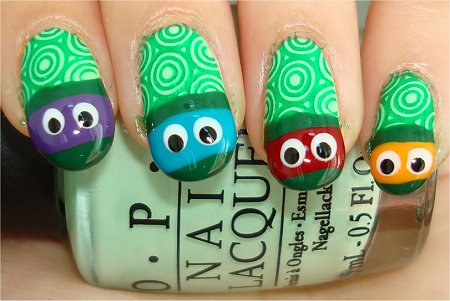 TMNT Nails Nail Art Tutorial