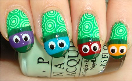 Teenage Mutant Ninja Turtle Nail Art Tutorial