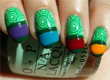 Teenage Mutant Ninja Turtles Nails Step 3