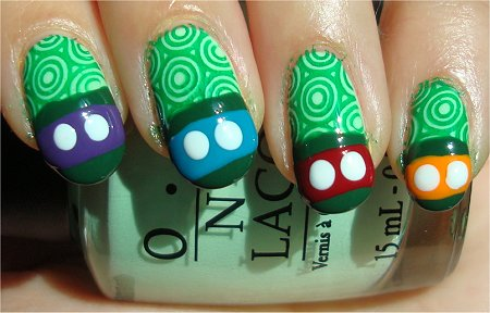 Teenage Mutant Ninja Turtles Nails Step 4