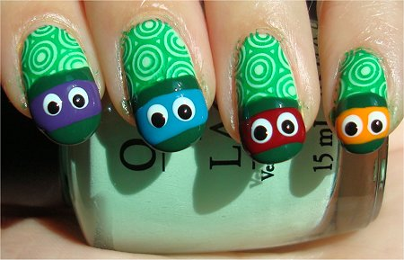 Teenage Mutant Ninja Turtles Nails Step 5