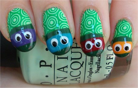 Teenaged Mutant Ninja Turtle Nail Art Tutorial