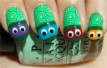 Teenaged Mutant Ninja Turtles Nail Art Tutorial