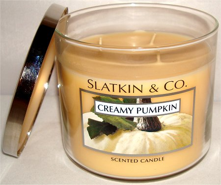 Bath & Body Works Creamy Pumpkin Candle Review & Pictures Slatkin & Co.