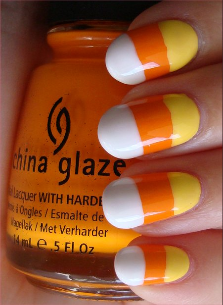 Candy Corn Nail Art Tutorial & Swatches