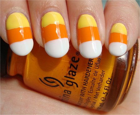 Candy Corn Nails Nail Art Tutorial