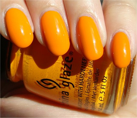 China Glaze Papaya Punch Swatches & Review