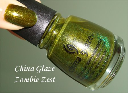 China Glaze Zombie Zest Swatch & Review