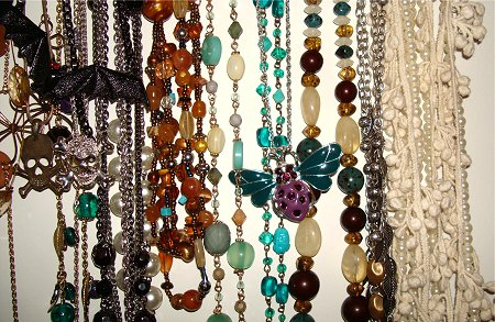 DIY Necklace Storage Idea