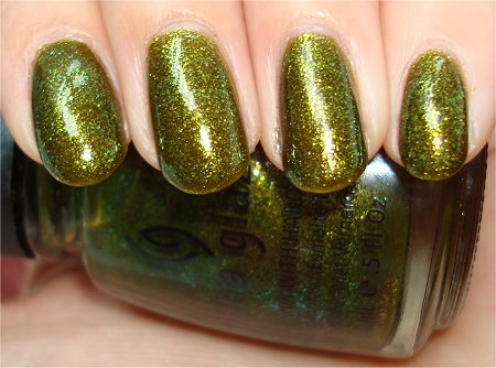 Flash China Glaze Awakening Collection 2010 Zombie Zest Review & Swatch