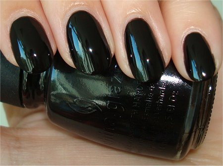 Flash China Glaze Black Polish Swatches & Review Liquid Leather