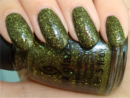 Flash China Glaze Haunting 2011 Collection It's Alive Swatch & Photo