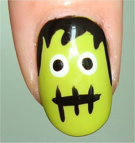 Flash Frankenstein Halloween Nail Art Tutorial & Step-by-Step Instructions