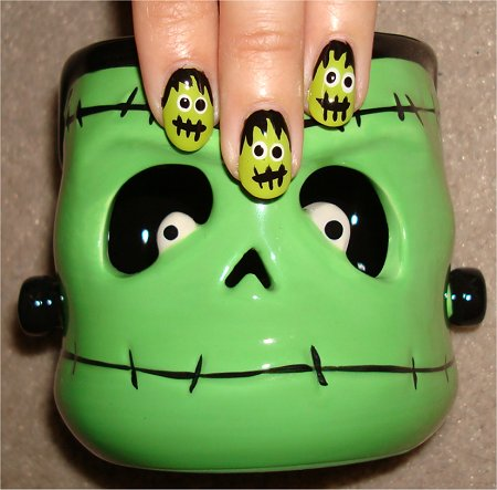 Flash Frankenstein Nail Art Tutorial & Swatches