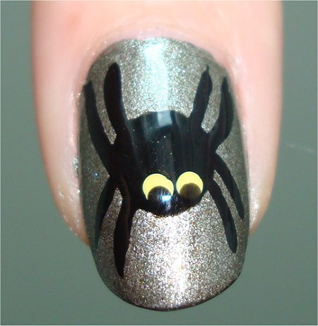 Flash Halloween Spider Nails
