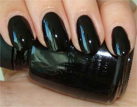 Flash Liquid Leather by China Glaze Black Polish Swatch & Review