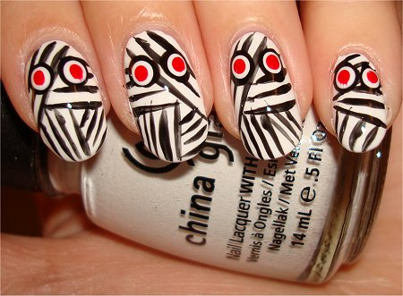 Flash Nail Art Mummy Nails & Swatches