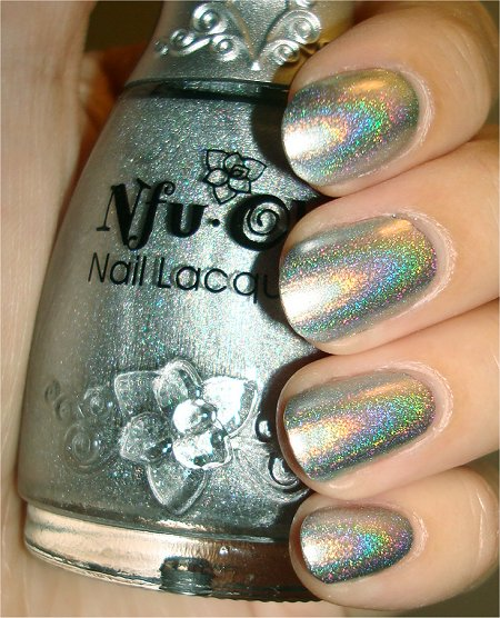 Flash Nfu Oh Silver Linear Holo Nail Polish Swatch & Review