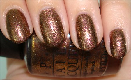Flash OPI Warm and Fozzie The Muppets Collection Holiday 2011 Swatches & Review
