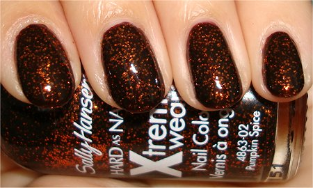 Flash Pumpkin Spice by Sally Hansen Review & Swatches