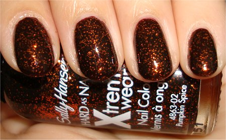 Flash Sally Hansen Pumpkin Spice Pictures & Review