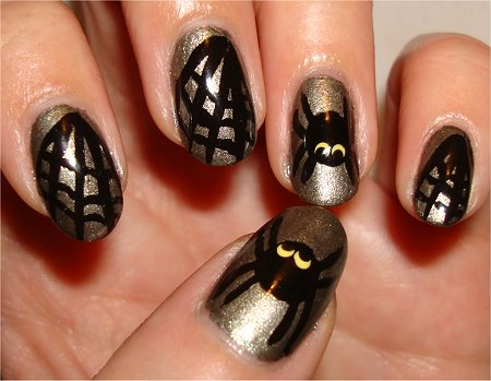 Flash Spider Manicure Nail Art Tutorial