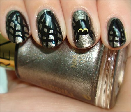 Flash Spiderweb Nails Halloween Nail Art Tutorial & Swatch