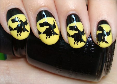 Flash Witch Halloween Nails Nail Art Tutorial