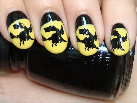 Flash Witch Nails Halloween Nails Nail Art Tutorial
