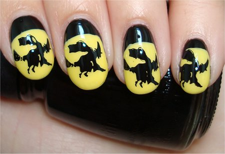 Flash Witchy Halloween Nail Art Tutorial