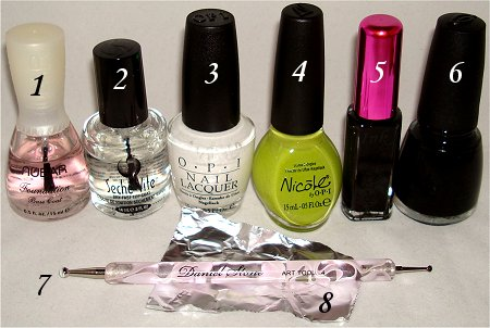 Frankenstein Nail Art Tutorial Supplies