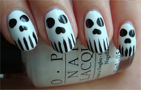 Halloween Nail Art Skull Nails Tutorial