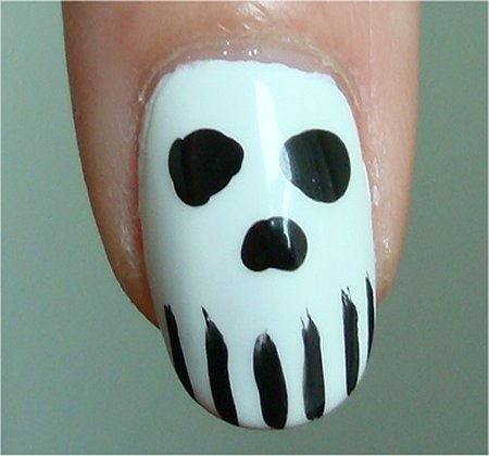 Halloween Nail Art Tutorial Skull Nails